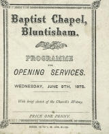Opening Leaflet 1875 (Peter Searle)