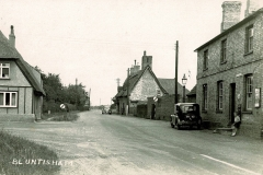 Short Lane Colne Road junction and old Post Office.  1945