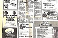 Bluntisham Cricket Club, 1988 (Elaine Gebbie)