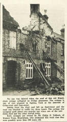 Squires Yard Cottages - Roof Collapse !  (Peter Searle) , approx 1965