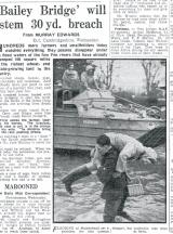 Floods 1947, Bailey Bridge
