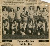 Bluntisham Football Team around 1975