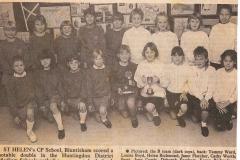 St Helen's School netball double (Elaine Gebbie)