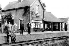 Bluntisham Railway Station in the 1900s